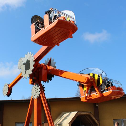 Fort Fun Fort Fun Abenteuerland Attraktion Attraktionen AirObot Crash Road Fighters