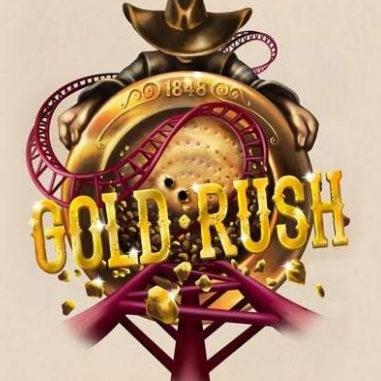 Slagharen Attraktion Achterbahn Gold Rush Looping Star Freizeitpark